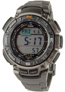 Casio Casio Men's Pathfinder Triple Sensor Multi-Function Titanium Watch