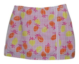 Lilly Pulitzer Pineapple Print Tropical Print Mini Mini Skirt PINK