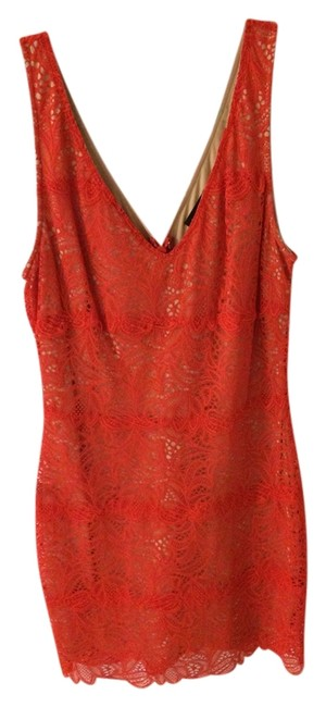 Preload https://item3.tradesy.com/images/bebe-red-orange-betsy-border-v-neck-lace-mini-night-out-dress-size-8-m-5570857-0-0.jpg?width=400&height=650