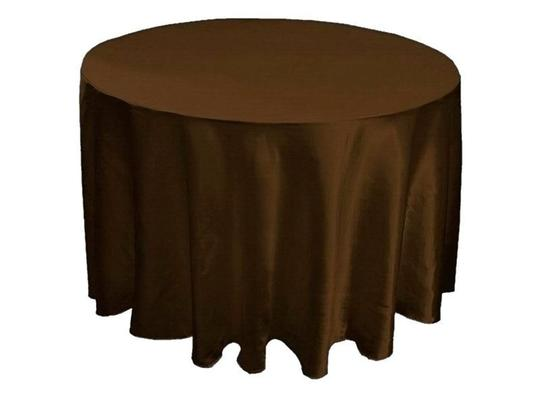 Preload https://img-static.tradesy.com/item/55709/brown-15-satin-round-90-tableclothes-0-0-540-540.jpg