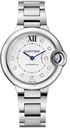 Cartier Cartier Ballon Bleu Silver Diamond Dial Stainless Steel Ladies Watch WE902074