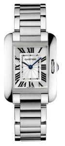 Cartier Cartier Tank Anglaise Silver Dial Stainless Steel Bracelet Ladies Watch W5310022