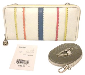 Brighton Brighton Painted Garden Xbody Wallet Leather White Multicolor T34382