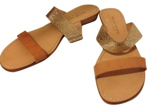 Niccolo Vicari Tan and Gold Sandals
