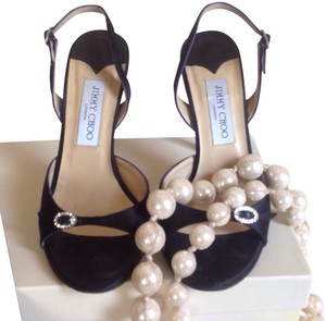 Jimmy Choo Timeless Adorable Comfy Black satin Formal