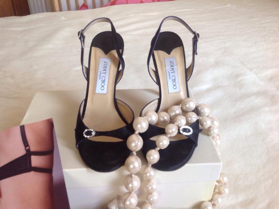 Timeless Adorable Formal Comfy Jimmy Shoes Black Choo Satin qxw1wtBR