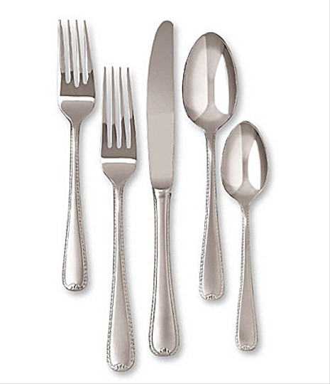 Gorham Frosted Ribbon Edge Flatware