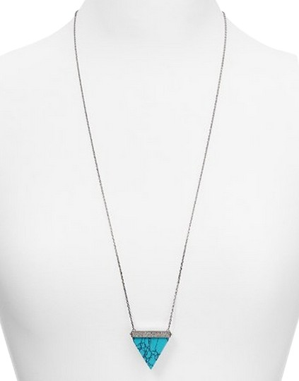 Preload https://item3.tradesy.com/images/michael-kors-silver-turquoise-pave-triangle-pendant-necklace-5572267-0-0.jpg?width=440&height=440