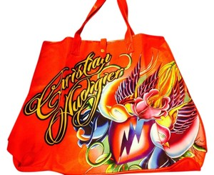 Christian Audigier Tote in Red