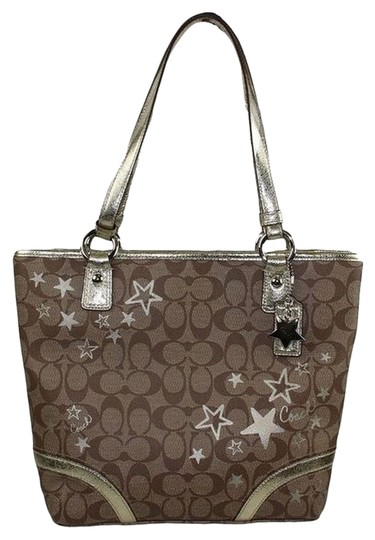Preload https://item5.tradesy.com/images/coach-heritage-charm-purse-18853-signature-khaki-jacquard-with-brown-c-print-pattern-gold-stars-made-5572414-0-0.jpg?width=440&height=440