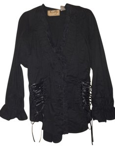 Scully Vintage Look Top Black