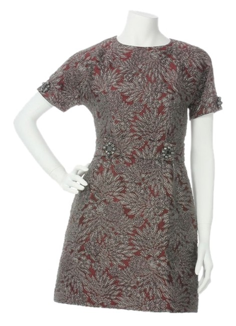 Preload https://item4.tradesy.com/images/dolce-and-gabbana-dark-red-brocade-above-knee-cocktail-dress-size-8-m-5572618-0-0.jpg?width=400&height=650
