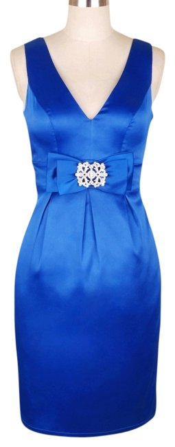Preload https://item3.tradesy.com/images/blue-v-cut-w-removable-rhinestone-brooch-satin-knee-length-formal-dress-size-16-xl-plus-0x-557277-0-0.jpg?width=400&height=650