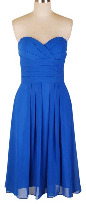 Other Strapless Pleated Chiffon Dress