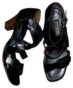 Paul Green Leather Black Sandals