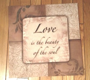 Canvas Sign With Love Quote