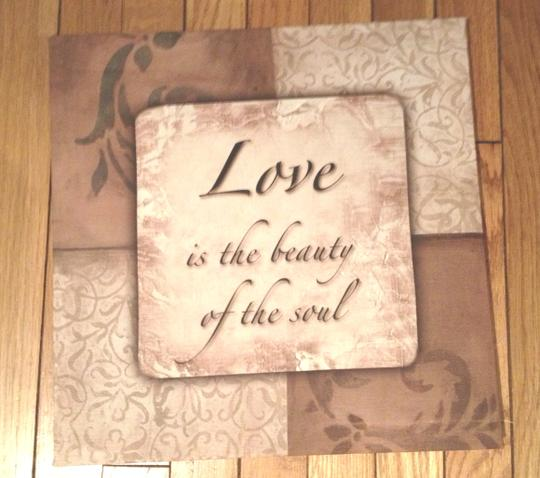 Natural / Brown Canvas Sign with Love Quote