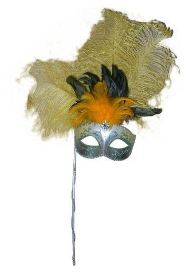 Preload https://item4.tradesy.com/images/silver-and-yellow-mardi-grasmasquerade-feather-mask-557318-0-0.jpg?width=440&height=440