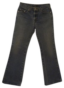 Express Low Rise Women's Size:3/4 S 100% Cotton Waist: 28 Flare Leg Jeans-Medium Wash