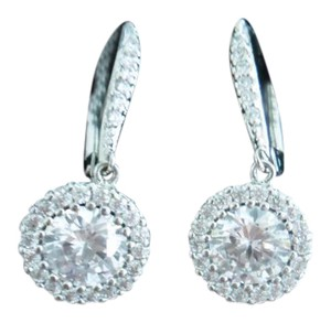 Clear New Stunning Halo Earrings