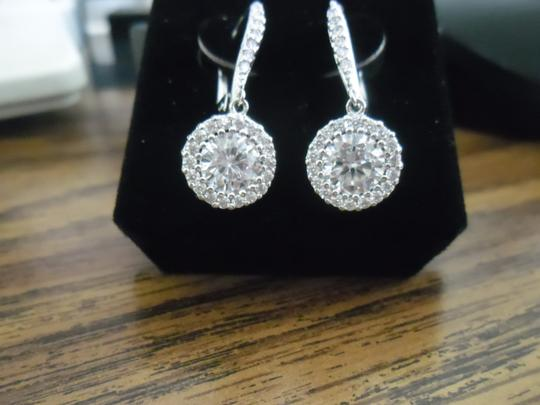 Clear New Stunning Halo Earrings Image 1