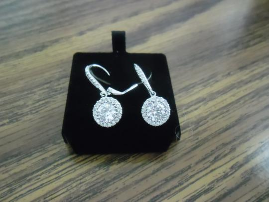Clear Cz Stunning Halo Day Earrings-new Earrings