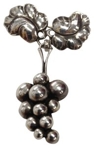 Georg Jensen Vintage Georg Jensen MOONLIGHT GRAPES S/S Brooch 217A