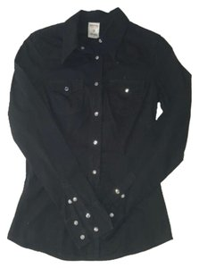 True Religion Button Down Shirt Blac