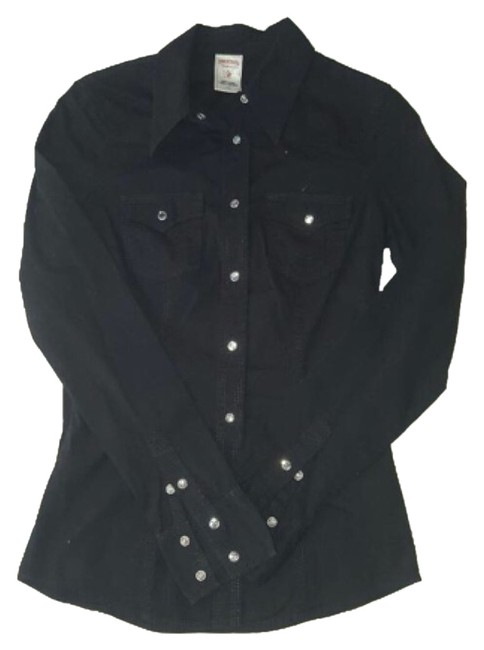Preload https://item5.tradesy.com/images/true-religion-blac-button-down-top-size-4-s-5573689-0-0.jpg?width=400&height=650