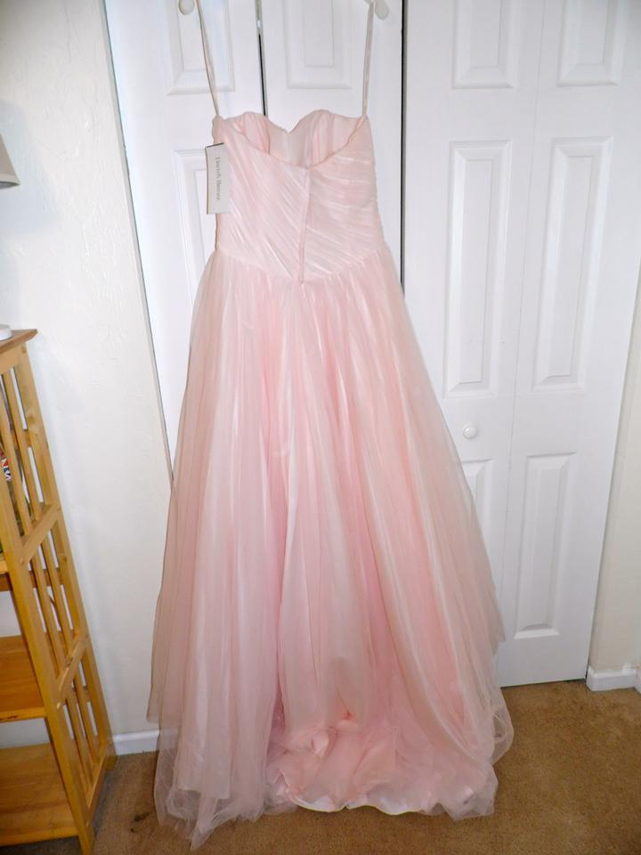 Pink Wedding Dresses David S Bridal : David s bridal pink blush tulle a line ball gown style mk wedding