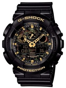 G-Shock G-Shock Men's GA100CF-1A9 Black Watch with Camo Digital Dial