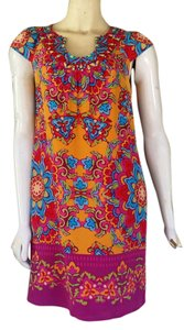 Muse short dress Multi-color Silk Beaded on Tradesy