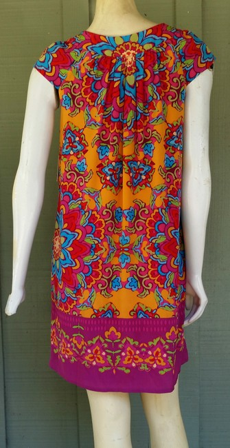 Muse short dress Multi-color Silk Beaded Pockets Trapeze on Tradesy