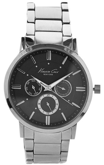 Kenneth Cole Reaction Keneth Cole 10019442 Men's Silver Tone Analog Watch With Grey Dial