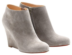 Christian Louboutin Suede Zeppa 35 Wedge Gray Boots