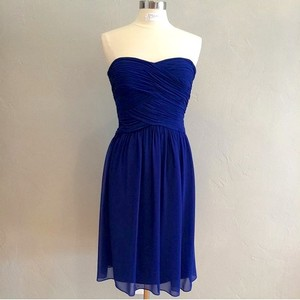 Donna Morgan Cobalt Chiffon Anne Formal Bridesmaid/Mob Dress Size 8 (M)