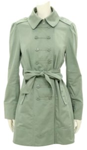 Marc Jacobs Double Breasted Khaki Military Green Trench Coat