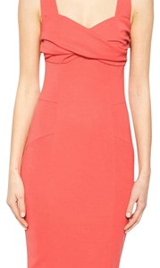 ASOS short dress Coral Pencil Stretch Elegant on Tradesy
