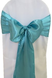 Other 70 Pool Blue Satin Chair Sashes Reception Decoration