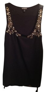 Express Top Black and Bejeweled