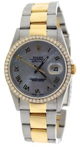 Rolex MEN'S ROLEX DATEJUST 2-TONE DIAMOND WATCH