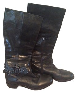 Via Spiga Brown Leather Black Boots