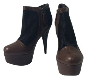 Fendi Leather Ponyhair Brown Boots