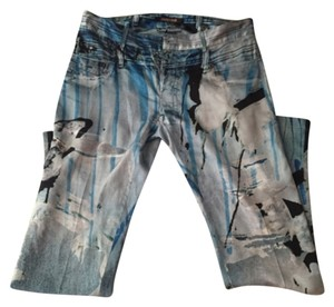 Roberto Cavalli Straight Pants Multicolor