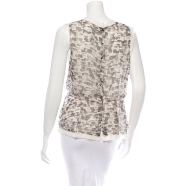 Oscar de la Renta Top Grey & White