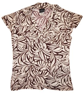 JKLA California Leaves Polyester Top Brown, Ivory