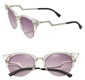 Fendi Fendi 0041/S Crystal 52mm Tipped Cat Eye Sunglasses Light Pink/Pink Gradient