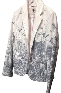 Anthropologie White / gray Blazer