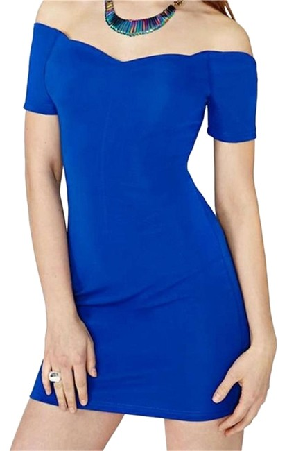 MINKPINK short dress Blue Mini Sweetheart Stretch Off The Shoulder on Tradesy