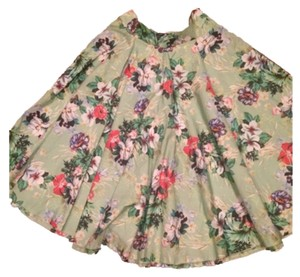 Zara Skirt Light green floral